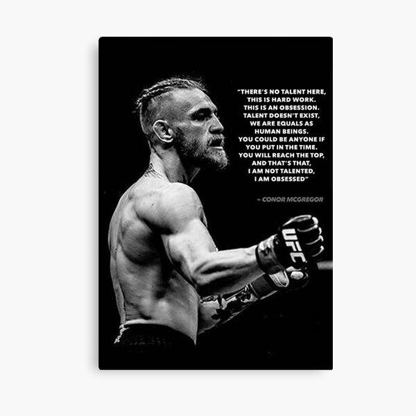 Conor Mcgregor UFC Quote Canvas Print