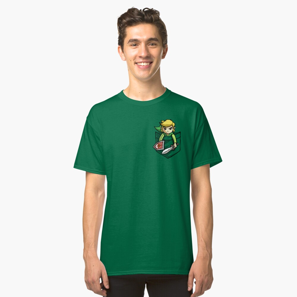 Pocket Link  Classic T-Shirt Front