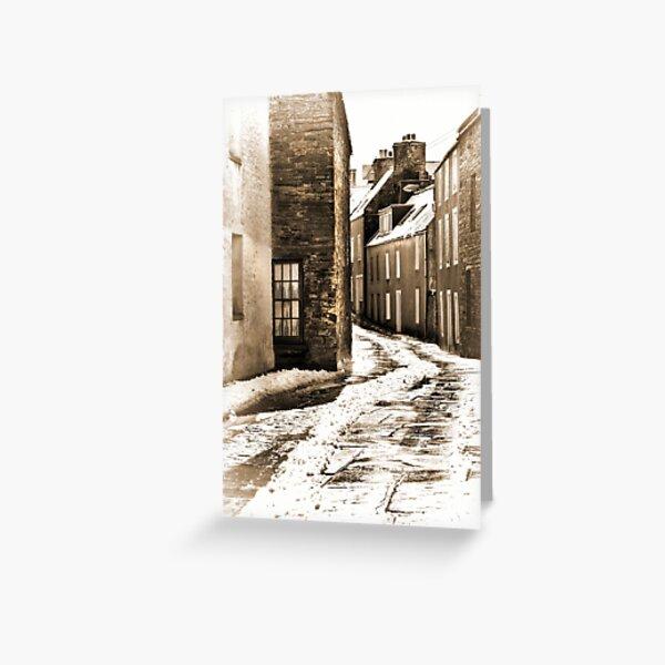 Stromness Street Corner Mainland Orkney Scotland. Greeting Card