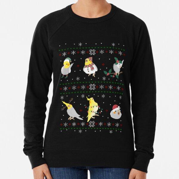 cockatiel ugly christmas Lightweight Sweatshirt