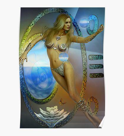 sacred feminine  two re-edited Poster