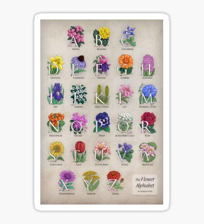 The Floral Alphabet Sticker