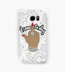 I came to slay beyonce tumblr middle finger feminist formation kanye print Samsung Galaxy Case/Skin
