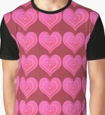 Pink Hearts Graphic T-Shirt