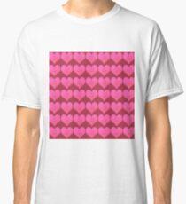 Pink Hearts Classic T-Shirt