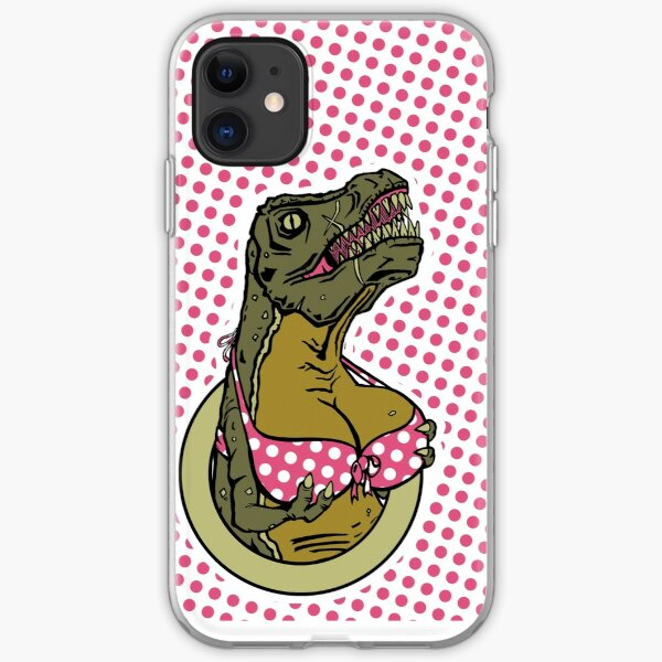 DINOSAURS WITH TITS - iPHONE POLKA DOTS iPhone Soft Case