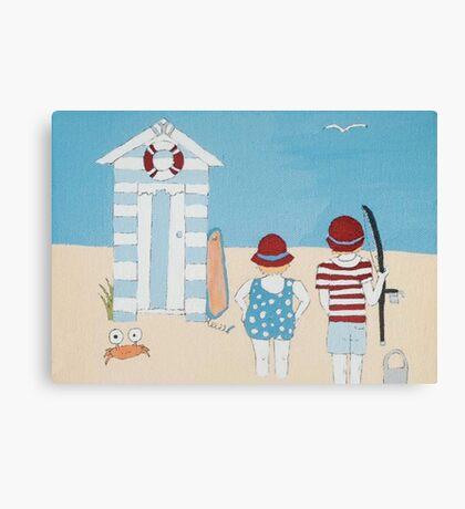 Beach Fishing Canvas Print