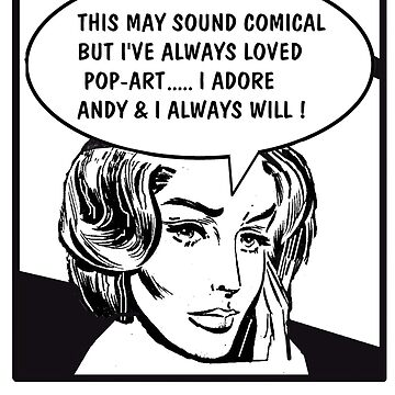 Pop art comic strip woman in love illustration by MrCreator