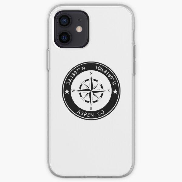 Aspen, Colorado Geographical Coordinates iPhone Soft Case