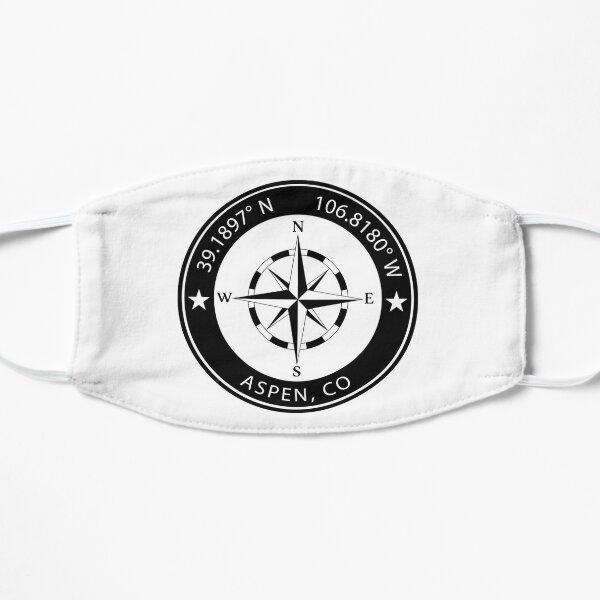 Aspen, Colorado Geographical Coordinates Flat Mask