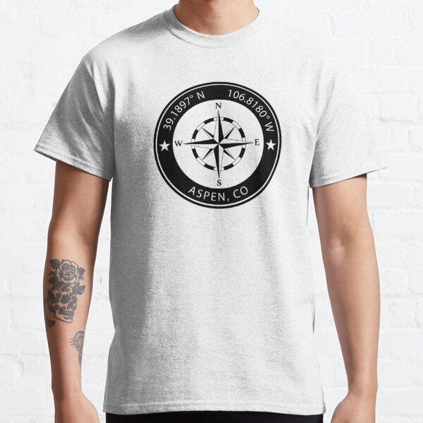 Aspen, Colorado Geographical Coordinates Classic T-Shirt