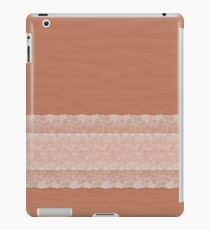 Ripple Spice with White Lace iPad Case/Skin