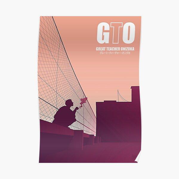 4K Onizuka fumant une cigarette Poster