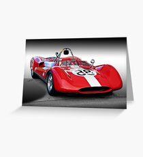 1961 Huffaker Genie Vinage FIA Racecar Greeting Card