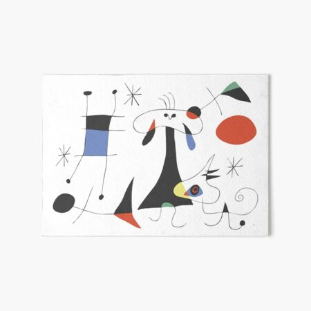 Joan Miró The Sun (El Sol) 1949 - La peinture la plus attrayante de Miro pour tout le monde Impression rigide