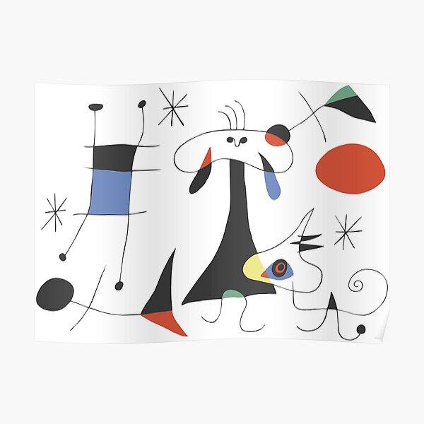 Joan Miró The Sun (El Sol) 1949 - Most Attractive Painting Artwork of Miro For Everyone Poster