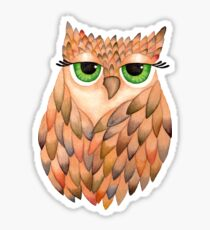 Watercolour Owl Sticker