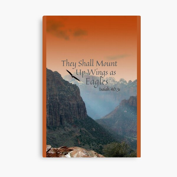 They Shall Mount Up Wings as Eagles, Isaiah 40:31 Canvas Print