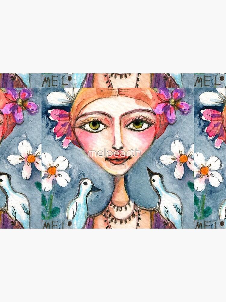 Frida Kahlo with Whispering Birds by meloearth