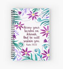 Throw Your Burden Spiral Notebook