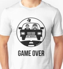 Just Married – Game Over (1C) Slim Fit T-Shirt