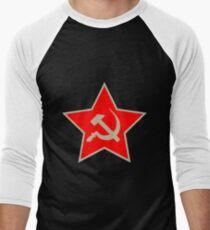 Communist Star; Hammer And Sickle; Hammer Und Sichel Men's Baseball ¾ T-Shirt