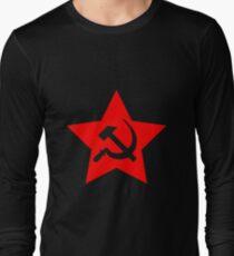 Communist Star; Hammer And Sickle Long Sleeve T-Shirt