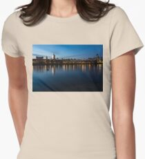 British Symbols and Landmarks - Saint Paul's Cathedral Blue Hour Reflections Womens Fitted T-Shirt