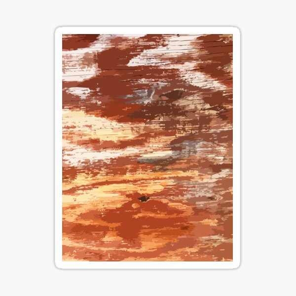 Old Wood Abstract Sticker
