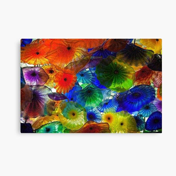 Ornamental glass flower display, Bellagio, Las Vegas Canvas Print