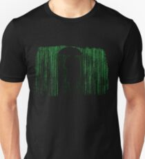 The Matrix Inspired Raining Code Design T-Shirt