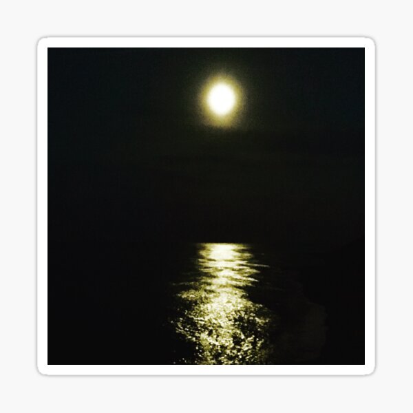 Moonlight on the sea Sticker