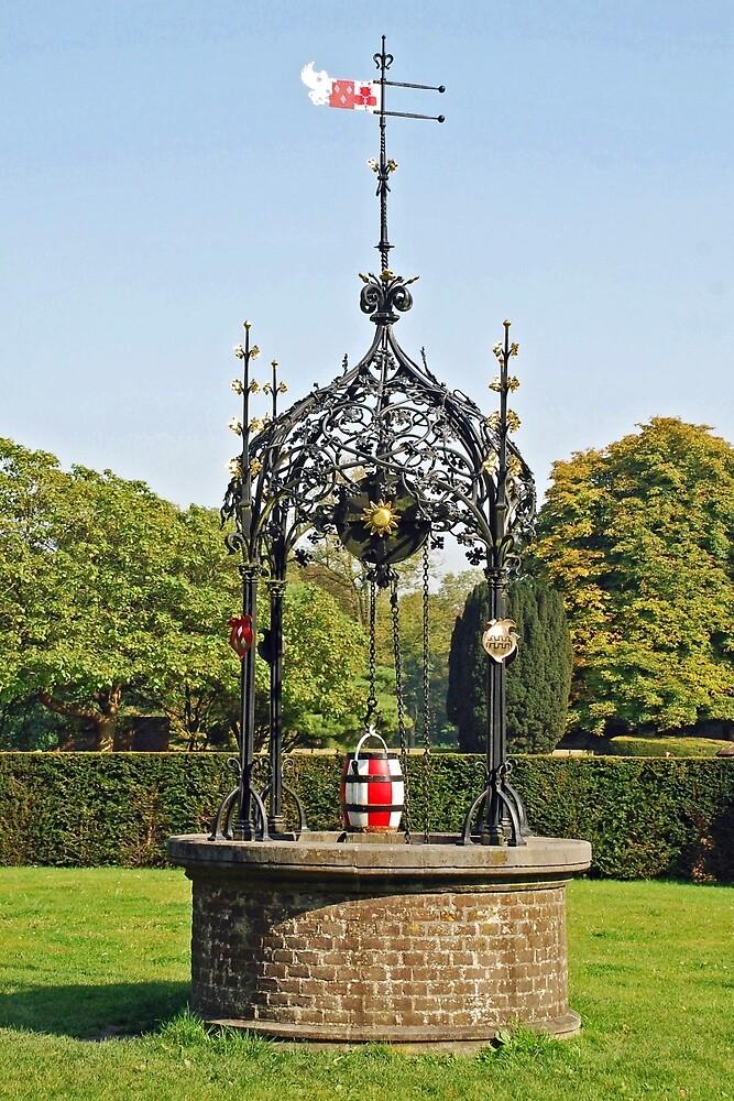 Well in the castle garden by Arie Koene