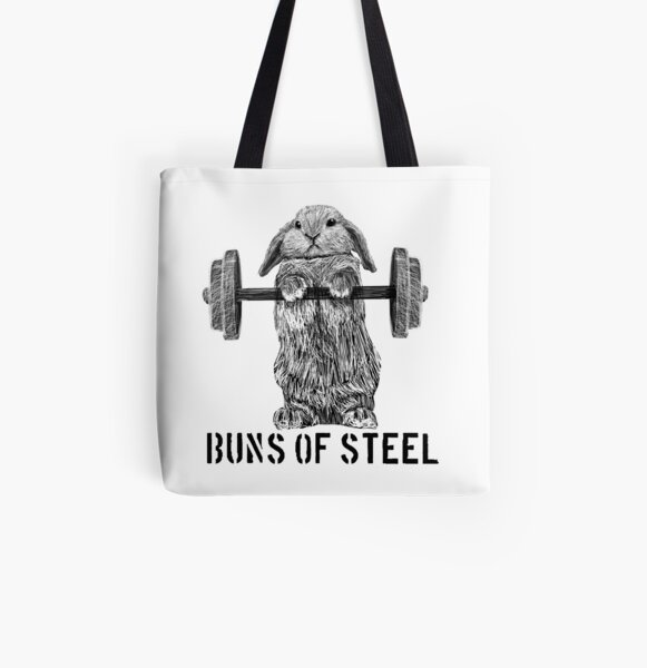 Buns of Steel (Light) All Over Print Tote Bag