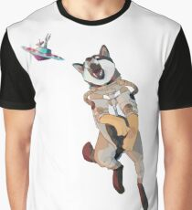 Shiba Inu from Space Catching a UFO! Graphic T-Shirt