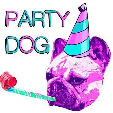 Frenchie Party Dog by benbdprod