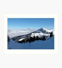 Mont Blanc above the Clouds Art Print