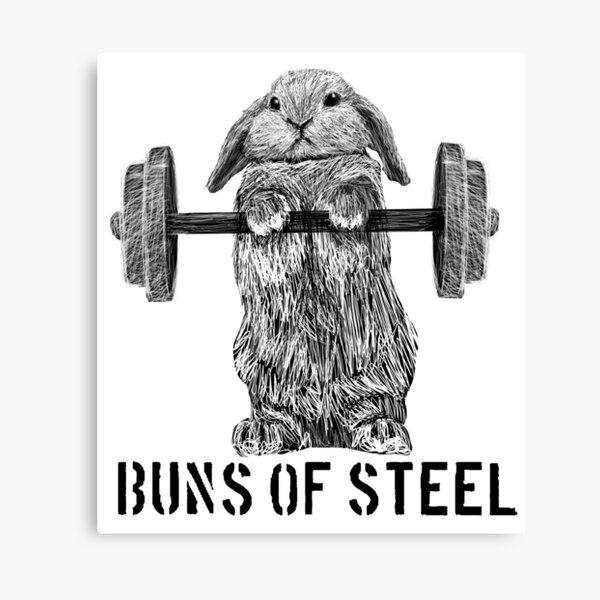 Buns of Steel (Light) Canvas Print