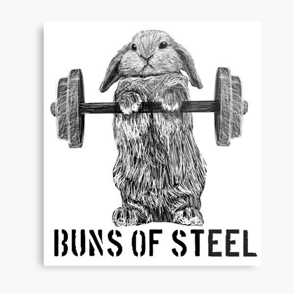 Buns of Steel (Light) Metal Print