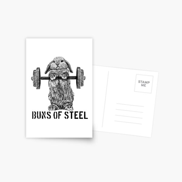 Buns of Steel (Light) Postcard