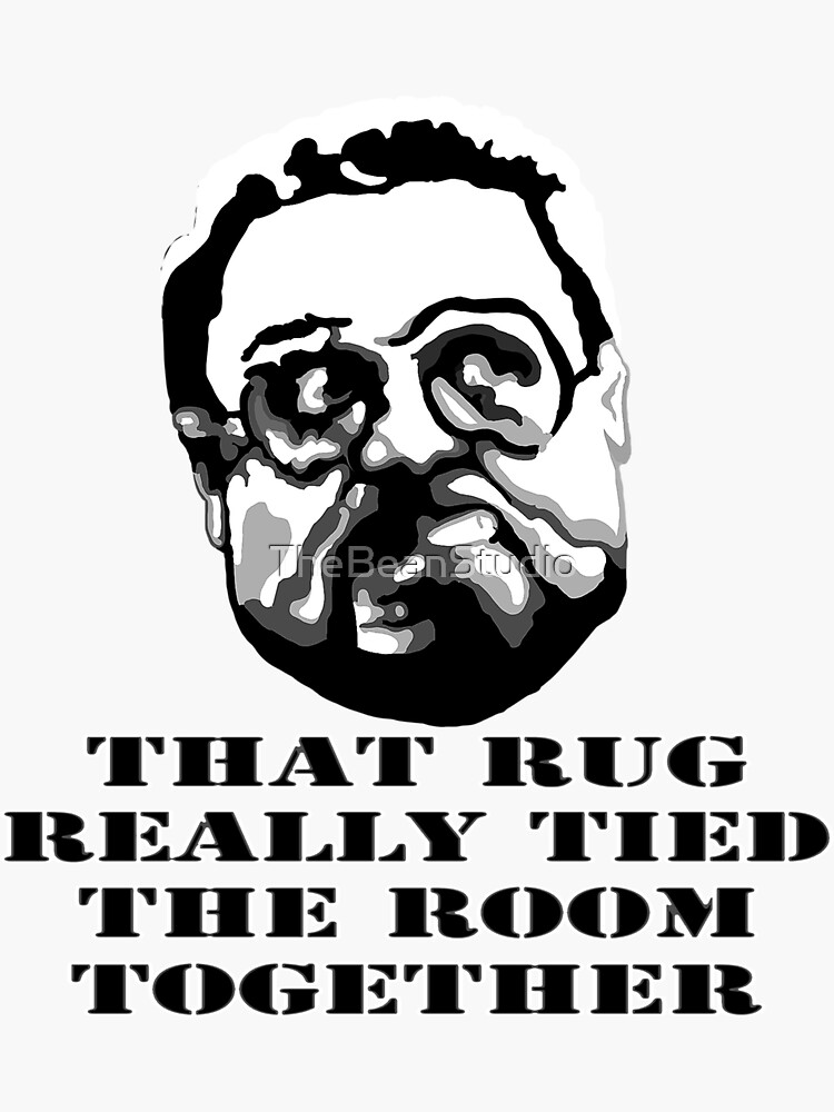 That Rug Really Tied The Room Together: Big Lebowski Movie Quote by TheBeanStudio