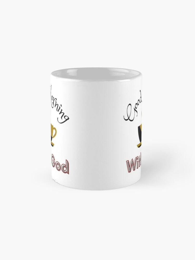 Alternate view of Coffee With God Mug