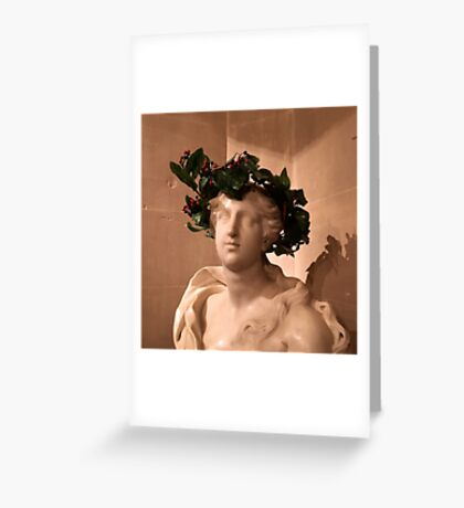Christmas bust Greeting Card