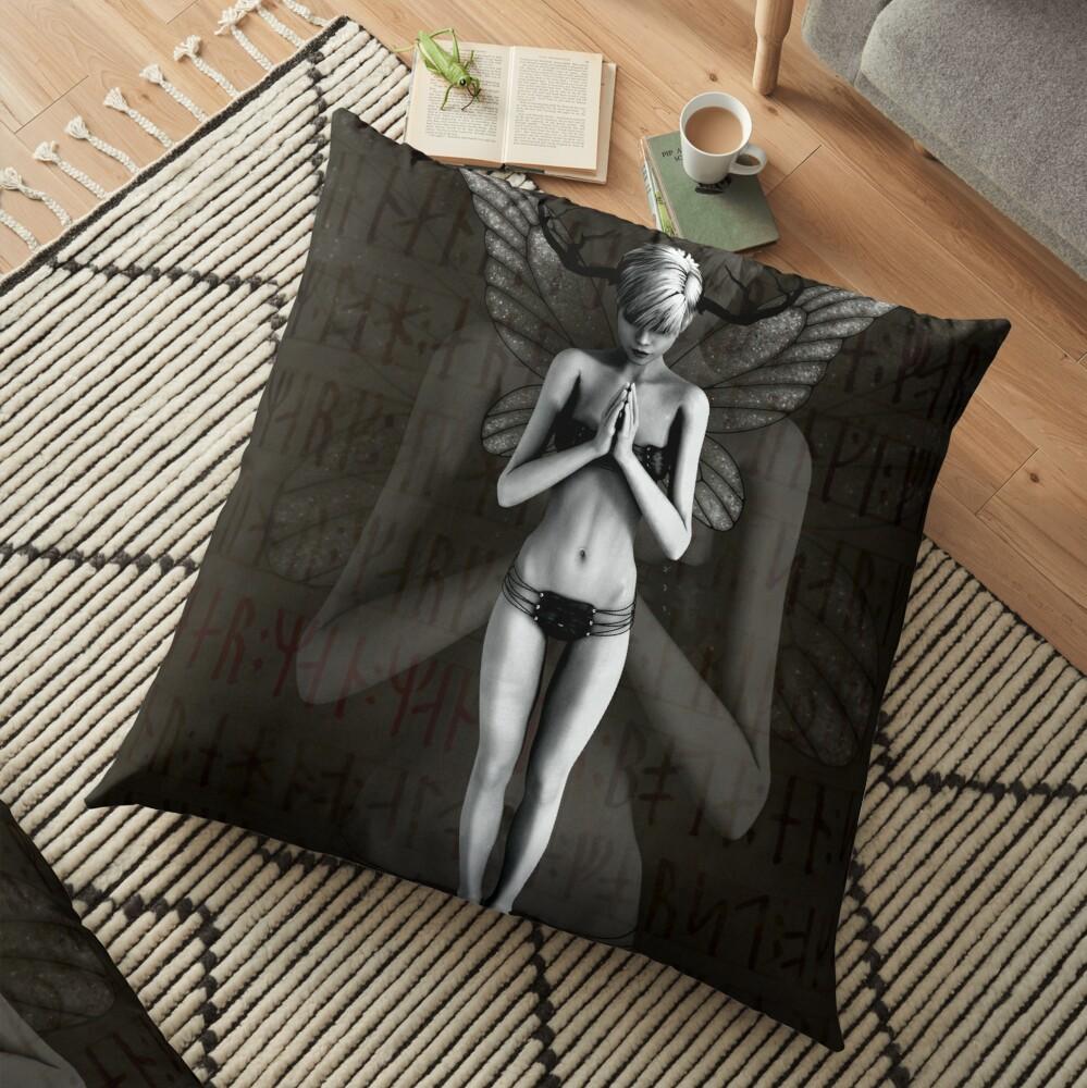 Rune'd Fantasy Floor Pillow