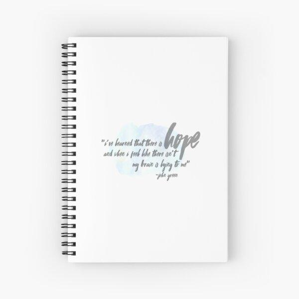 John Green on Hope Spiral Notebook
