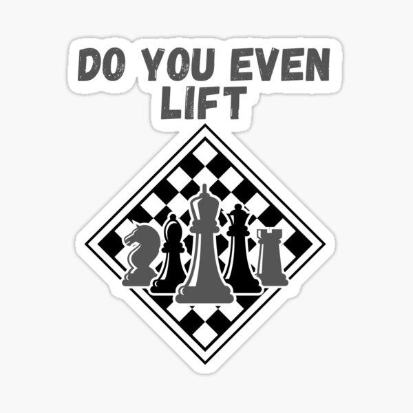 Chess Humour, chess club lover design Sticker