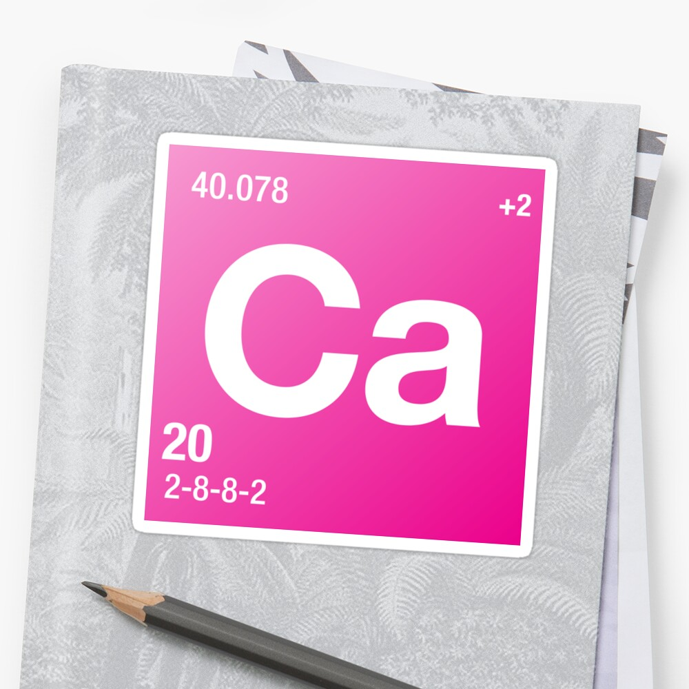 Element calcium stickers by defstar redbubble element calcium by defstar gamestrikefo Images