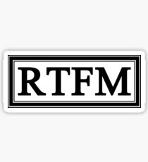 RTFM Sticker