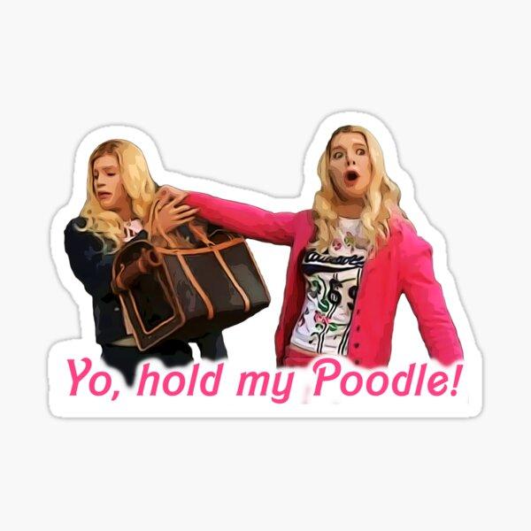 Yo, Hold My Poodle - White Chicks Pegatina