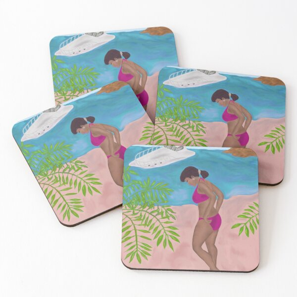 Beauty At The Beach By Loure Bussey Coasters (Set of 4)